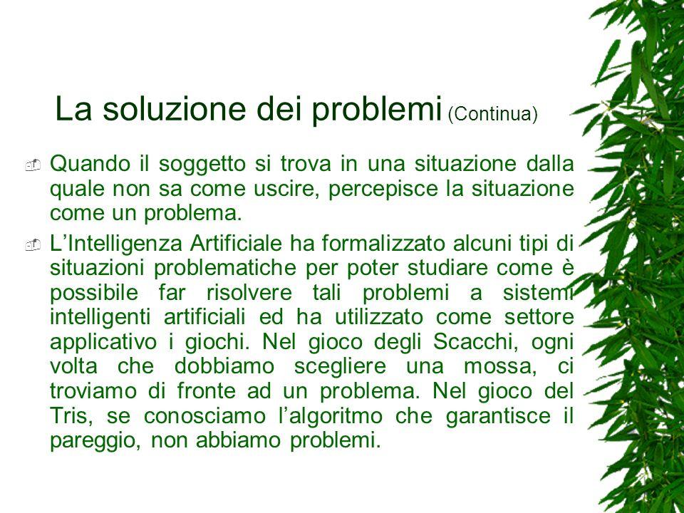 La soluzione dei problemi (Continua)