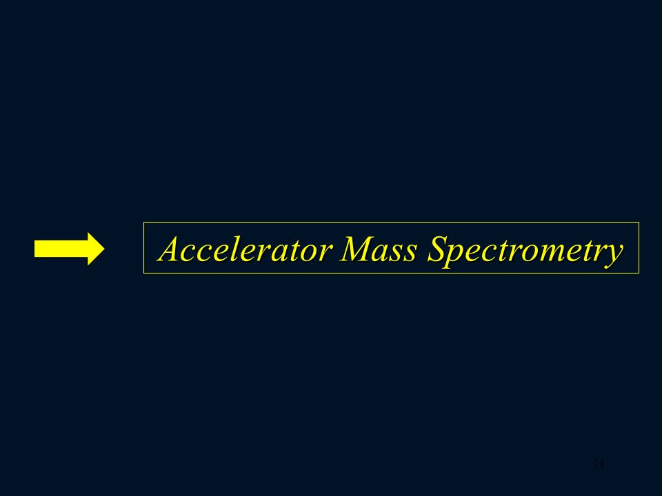 Accelerator Mass Spectrometry