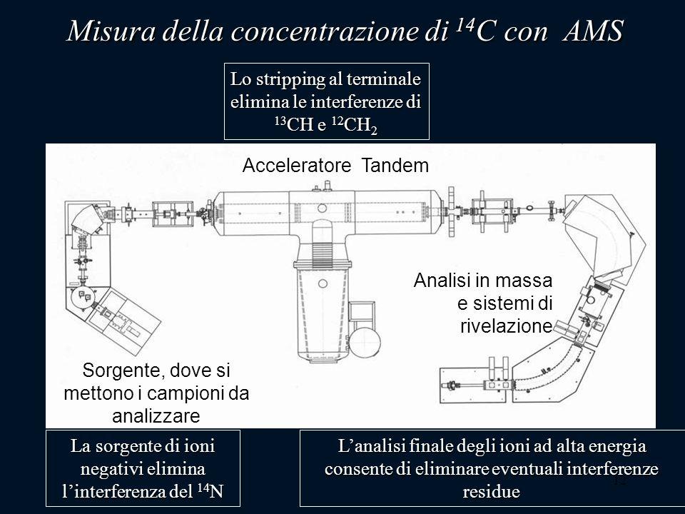 Misura della concentrazione di 14C con AMS
