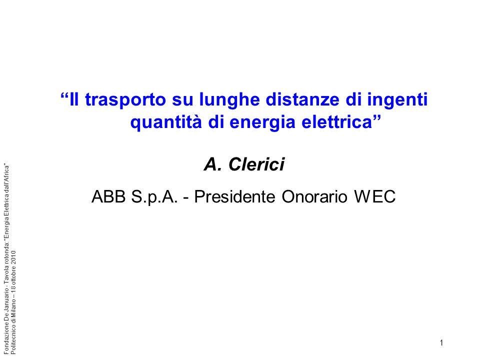 ABB S.p.A. - Presidente Onorario WEC