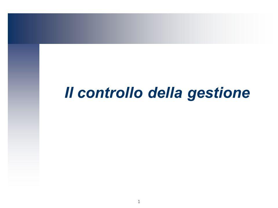 Il controllo della gestione
