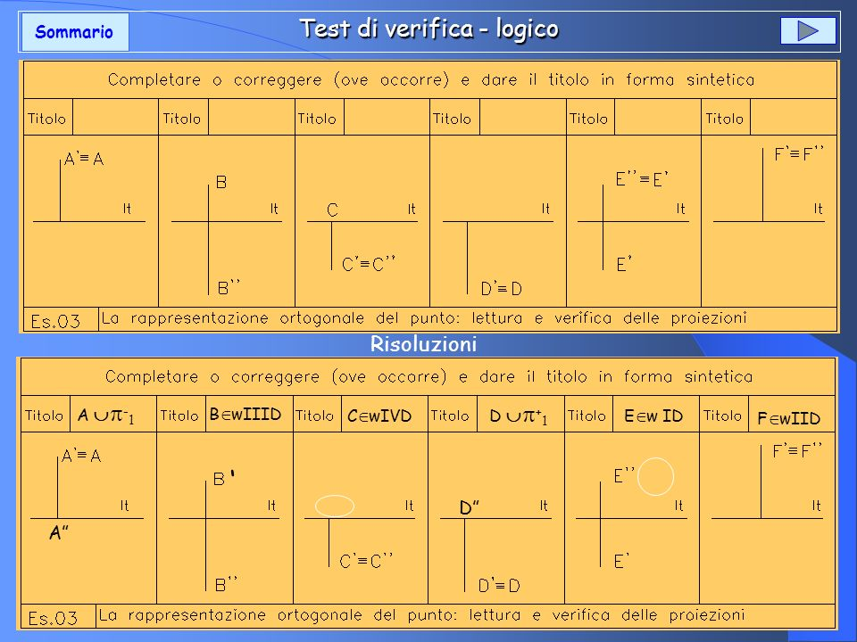 Test di verifica - logico