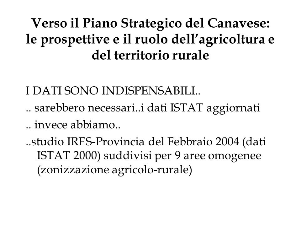 Verso il Piano Strategico del Canavese: le prospettive e il ruolo dell'agricoltura e del territorio rurale