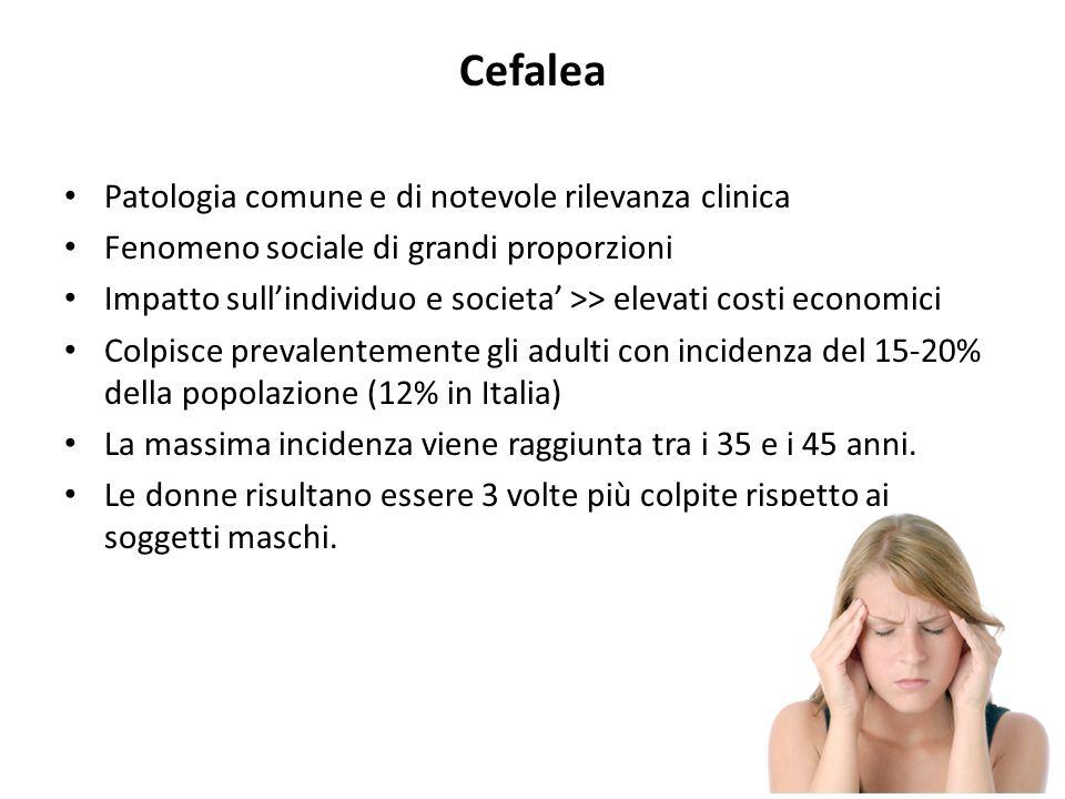 Cefalea Patologia comune e di notevole rilevanza clinica