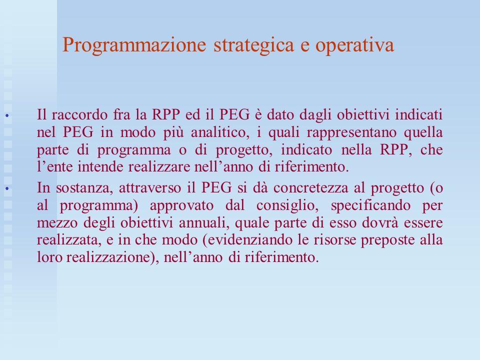 Programmazione strategica e operativa