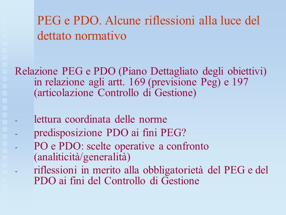 PEG e PDO. Alcune riflessioni alla luce del dettato normativo