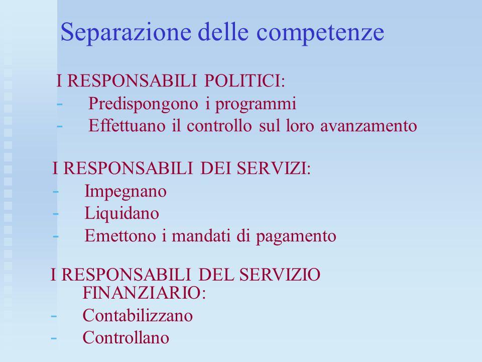 Separazione delle competenze
