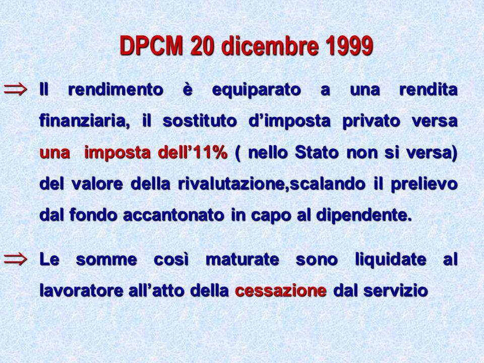 DPCM 20 dicembre 1999