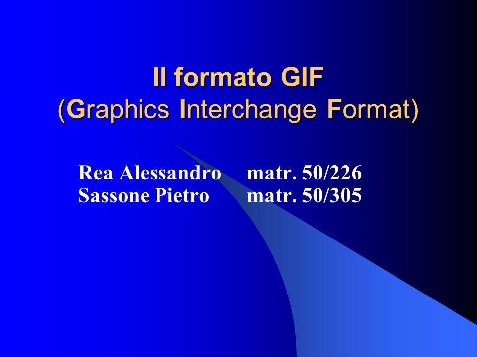 Il formato GIF (Graphics Interchange Format)