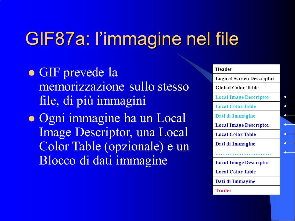 GIF87a: l'immagine nel file