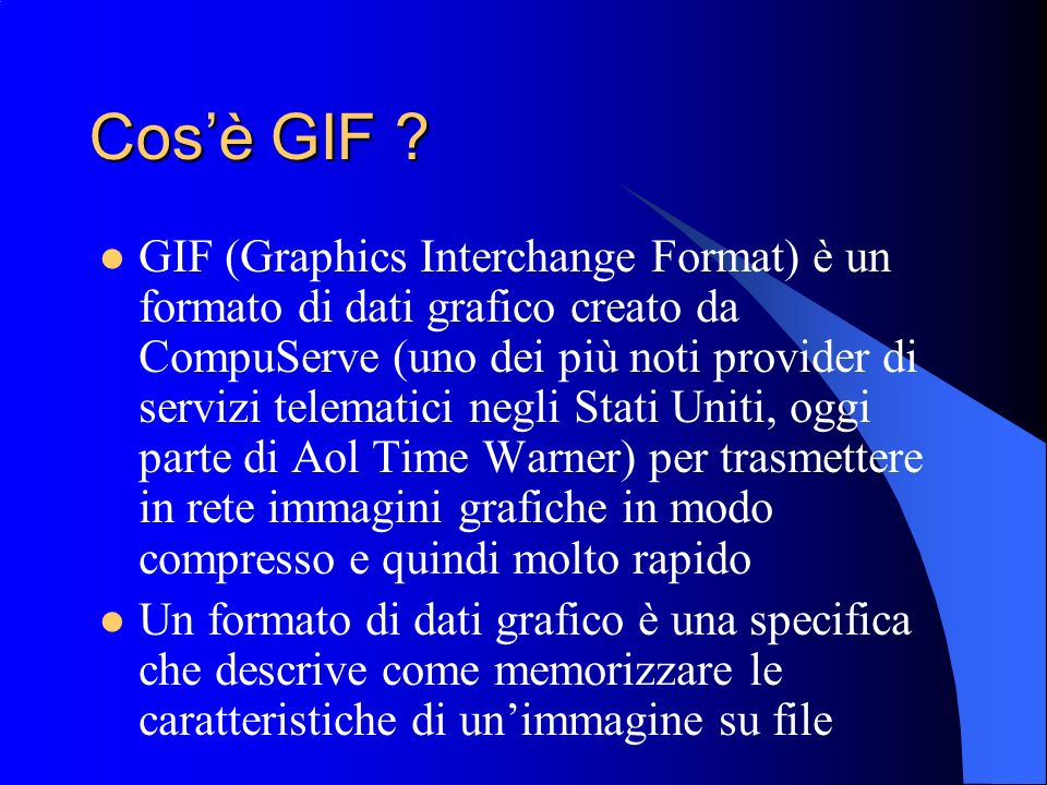 Cos'è GIF