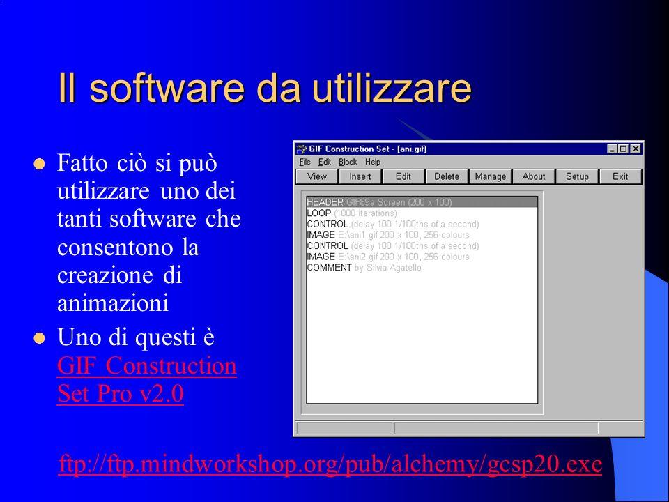Il software da utilizzare