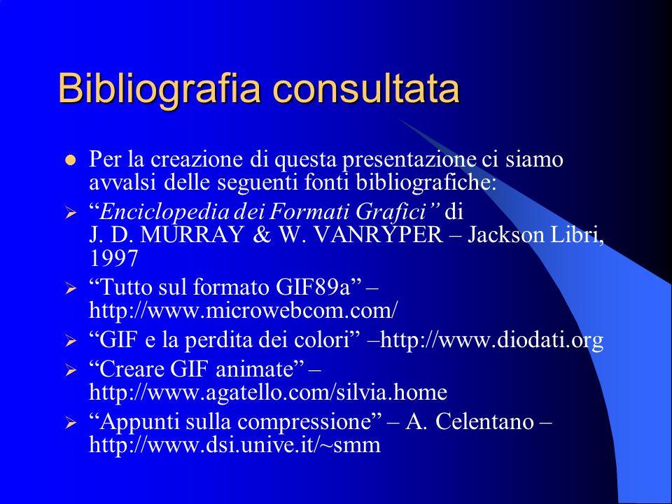 Bibliografia consultata