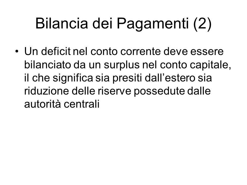 Bilancia dei Pagamenti (2)