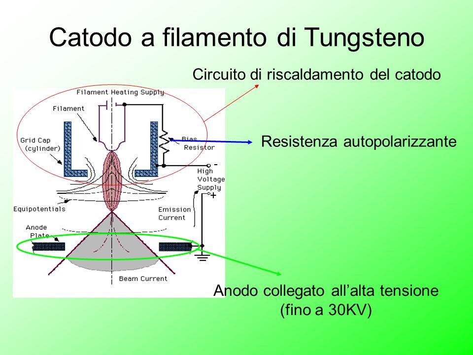 Catodo a filamento di Tungsteno