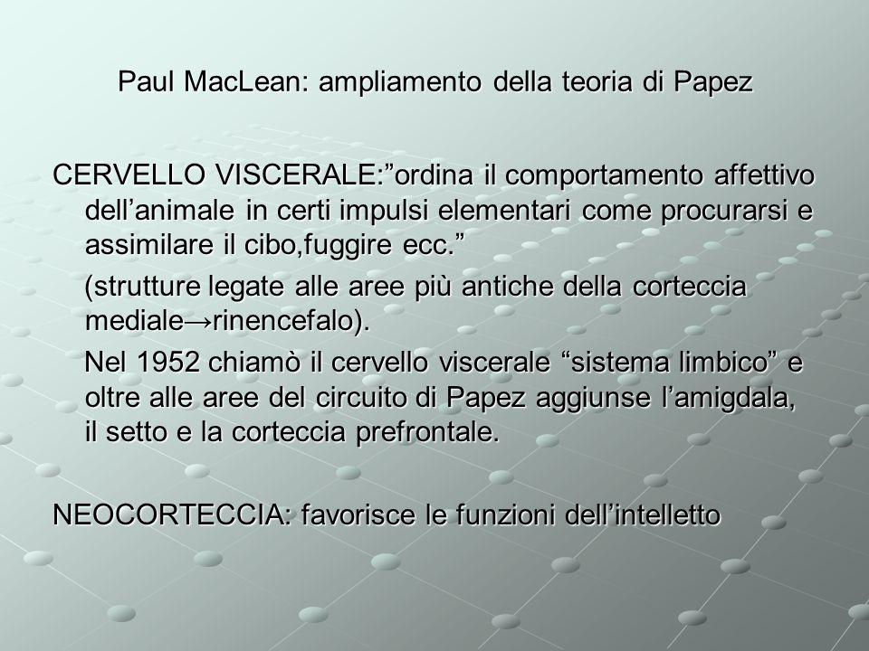 Paul MacLean: ampliamento della teoria di Papez