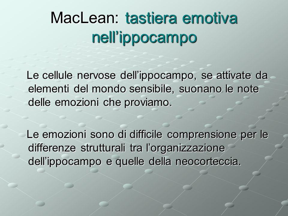 MacLean: tastiera emotiva nell'ippocampo