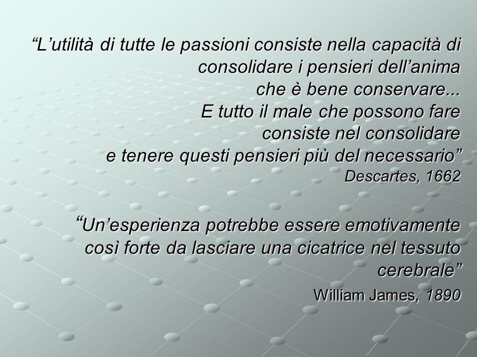 L'utilità di tutte le passioni consiste nella capacità di consolidare i pensieri dell'anima che è bene conservare...