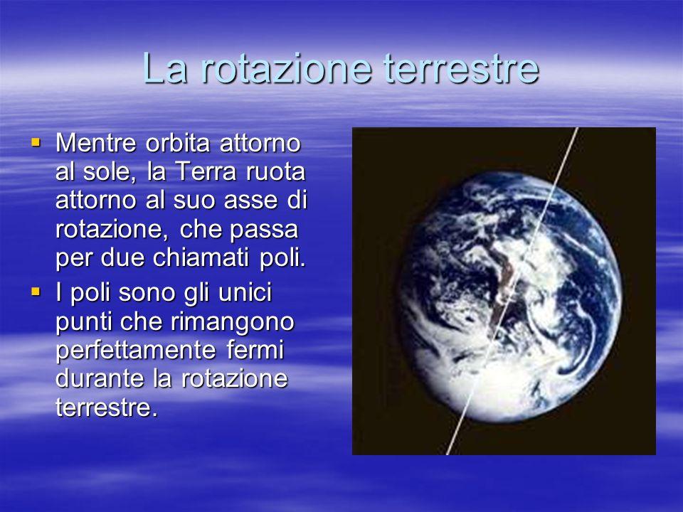 La rotazione terrestre