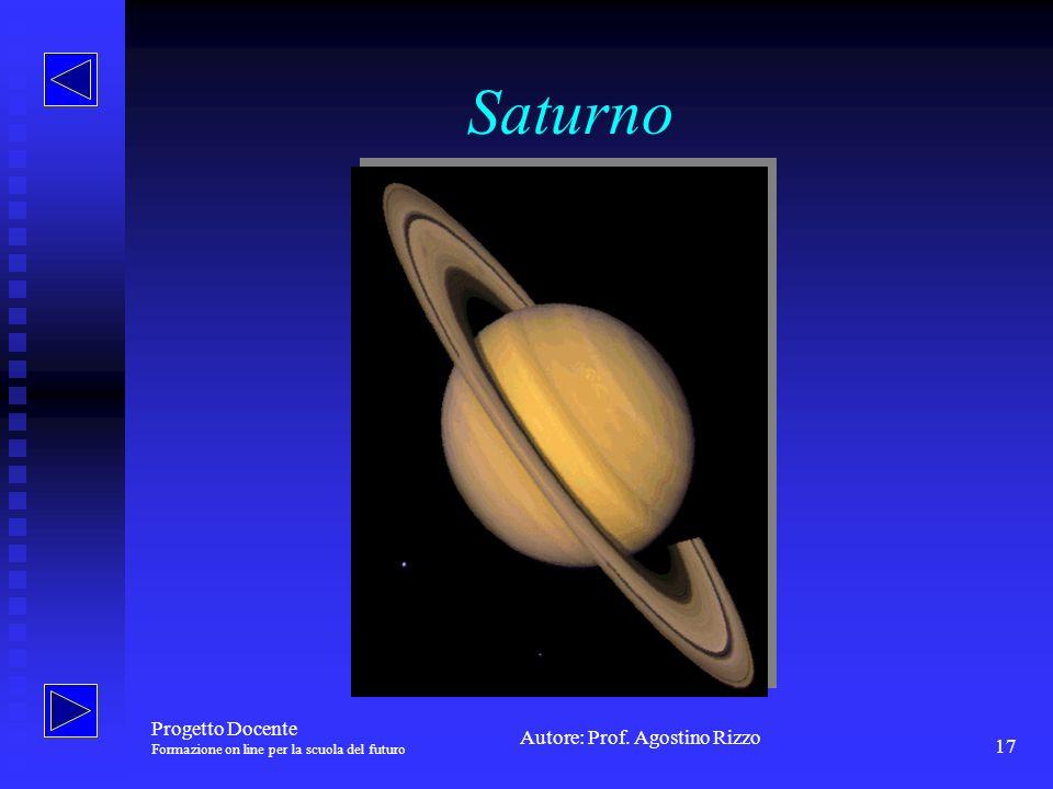 Saturno Progetto Docente Formazione on line per la scuola del futuro