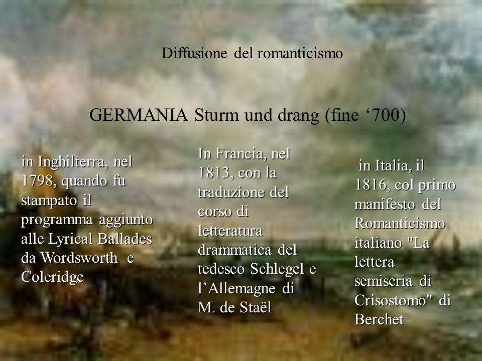 GERMANIA Sturm und drang (fine '700)