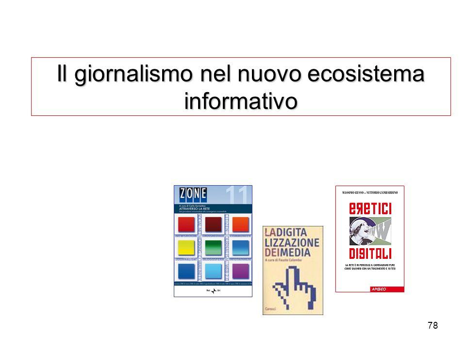 Il giornalismo nel nuovo ecosistema informativo