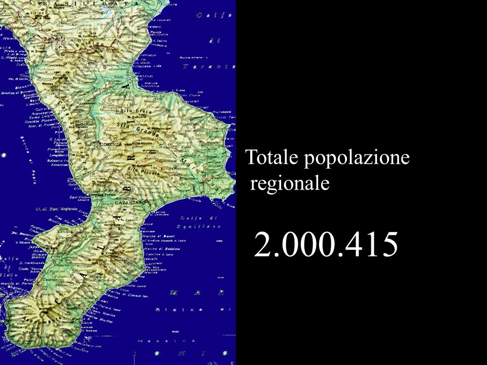 Totale popolazione regionale 2.000.415
