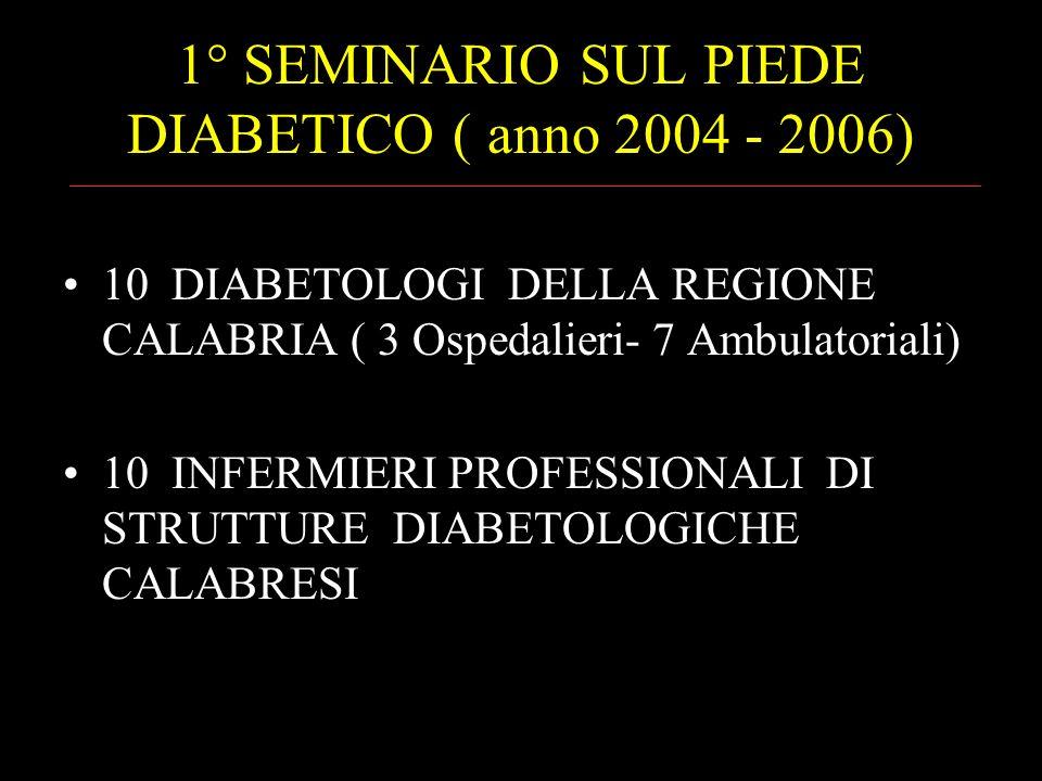 1° SEMINARIO SUL PIEDE DIABETICO ( anno 2004 - 2006)