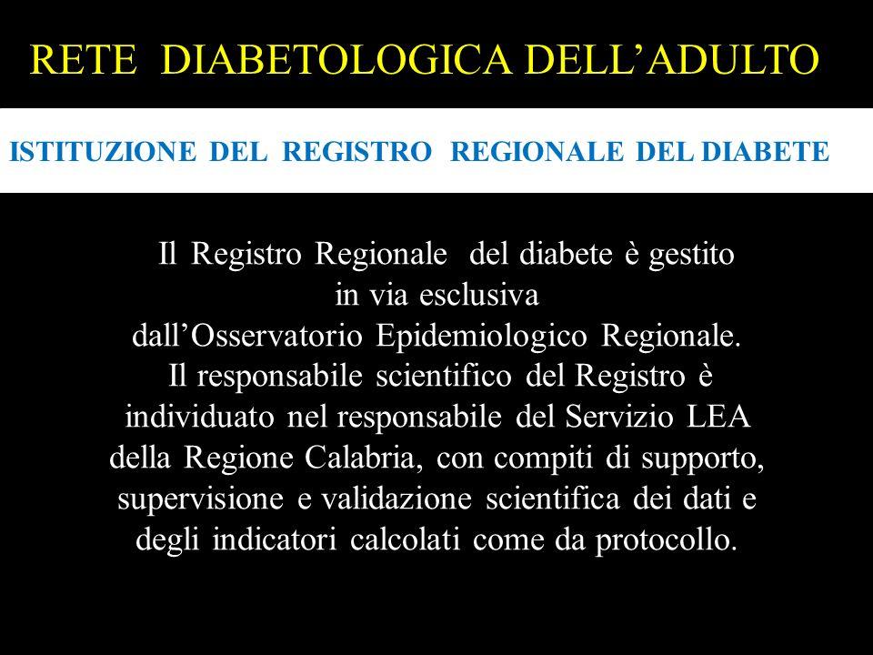 RETE DIABETOLOGICA DELL'ADULTO