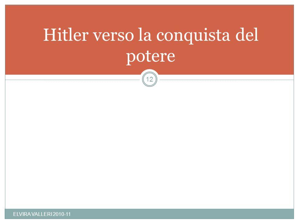 Hitler verso la conquista del potere
