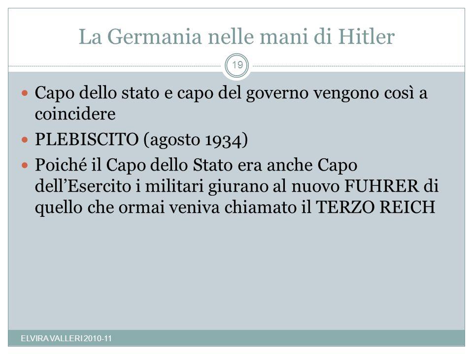 La Germania nelle mani di Hitler