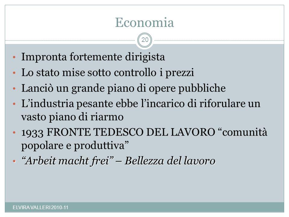 Economia Impronta fortemente dirigista