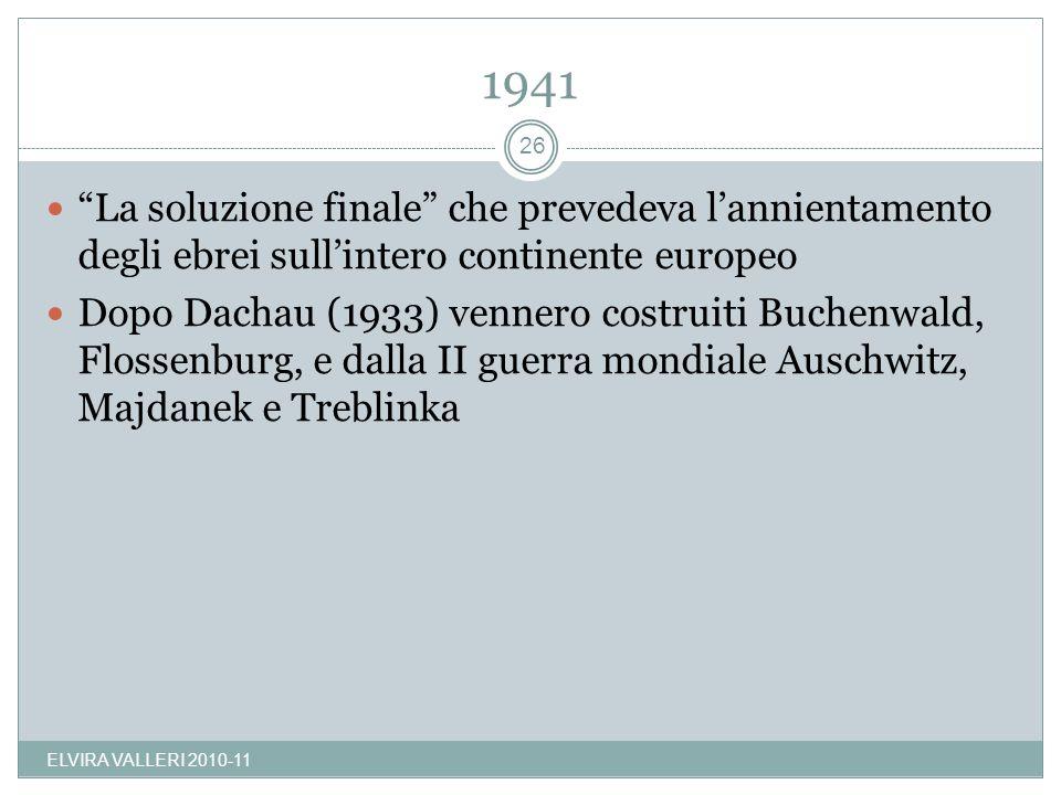 1941 La soluzione finale che prevedeva l'annientamento degli ebrei sull'intero continente europeo.