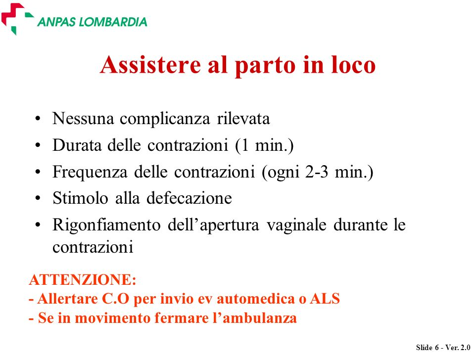 Assistere al parto in loco