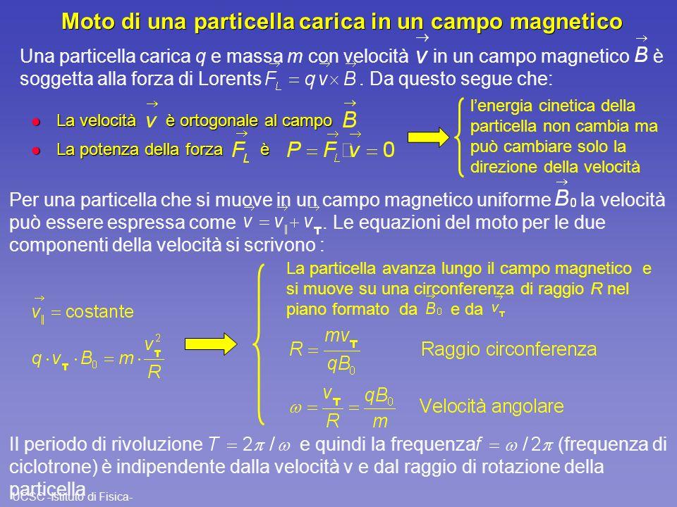 Moto di una particella carica in un campo magnetico