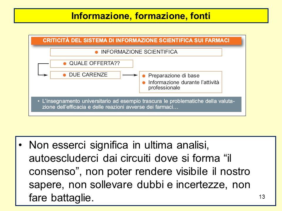 Informazione, formazione, fonti