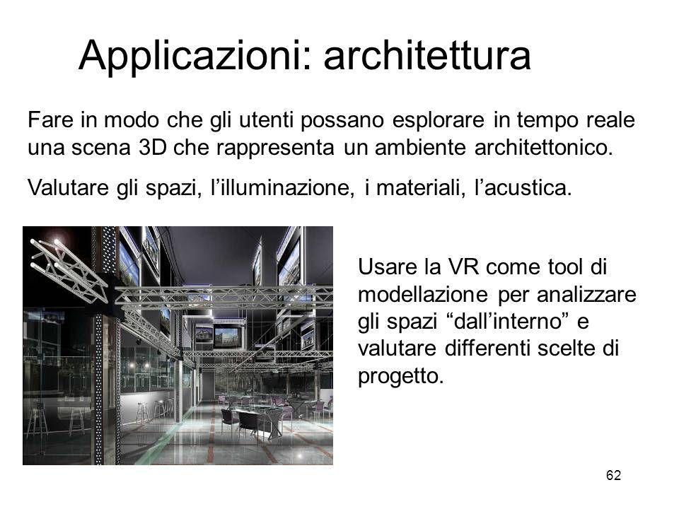 Applicazioni: architettura