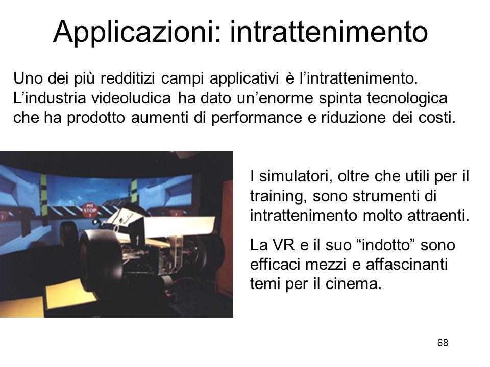 Applicazioni: intrattenimento