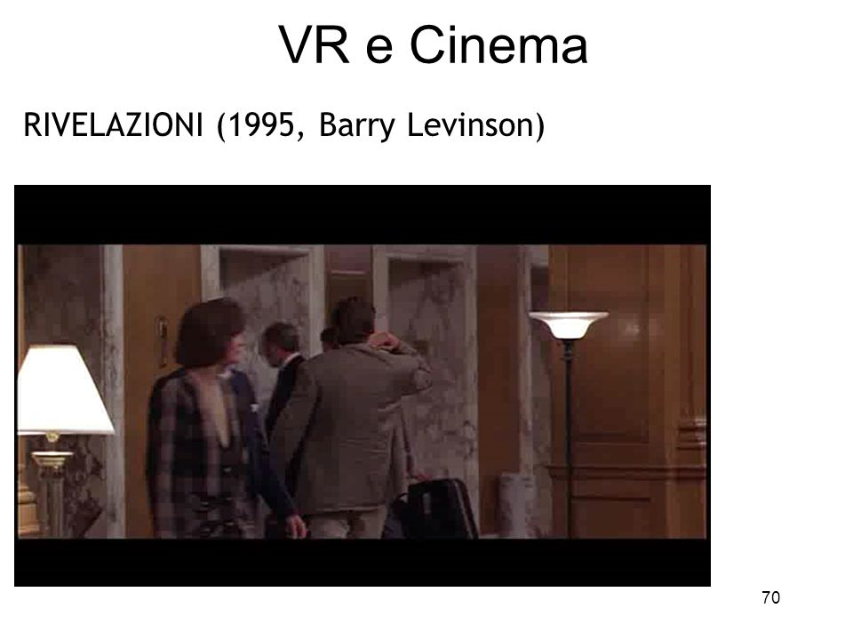 VR e Cinema RIVELAZIONI (1995, Barry Levinson)