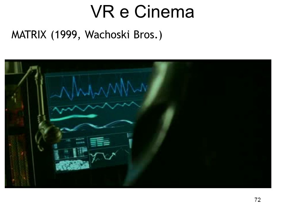 VR e Cinema MATRIX (1999, Wachoski Bros.)