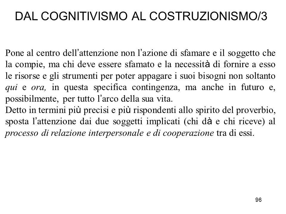 DAL COGNITIVISMO AL COSTRUZIONISMO/3