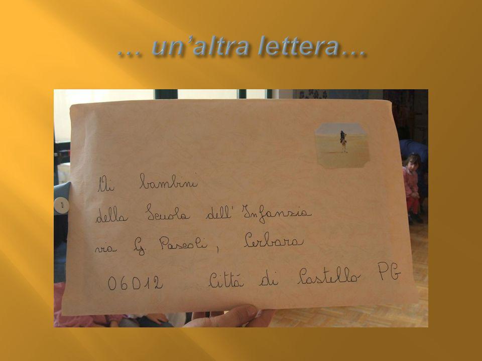 … un'altra lettera…