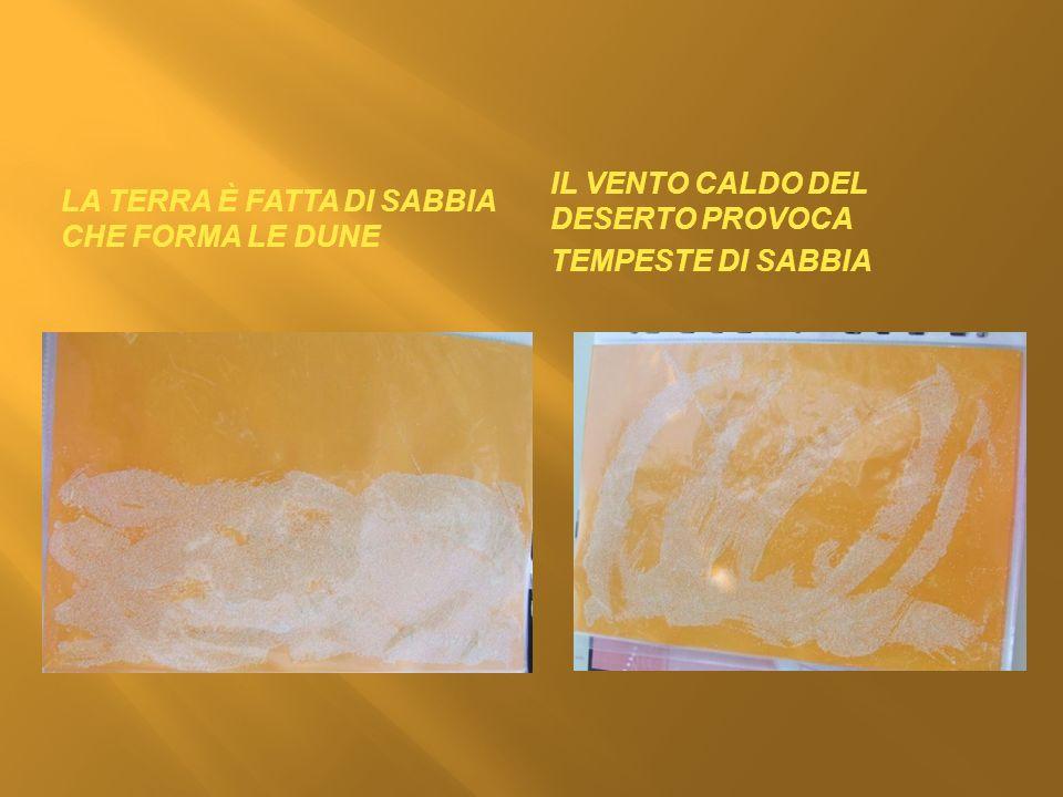 La terra è fatta di sabbia che forma le Dune