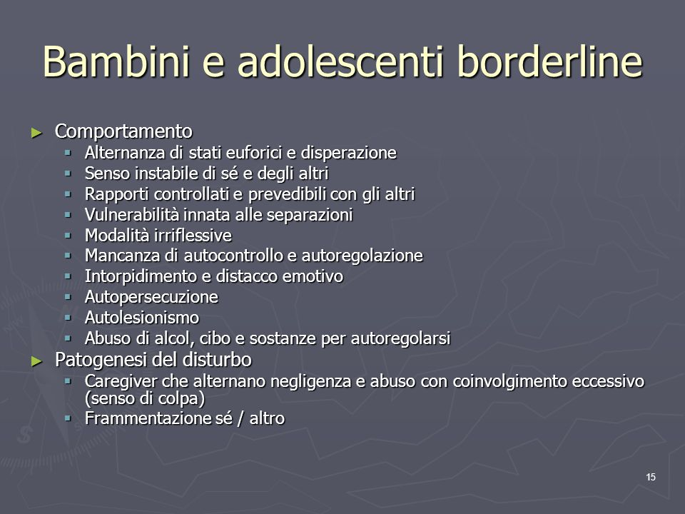 Bambini e adolescenti borderline