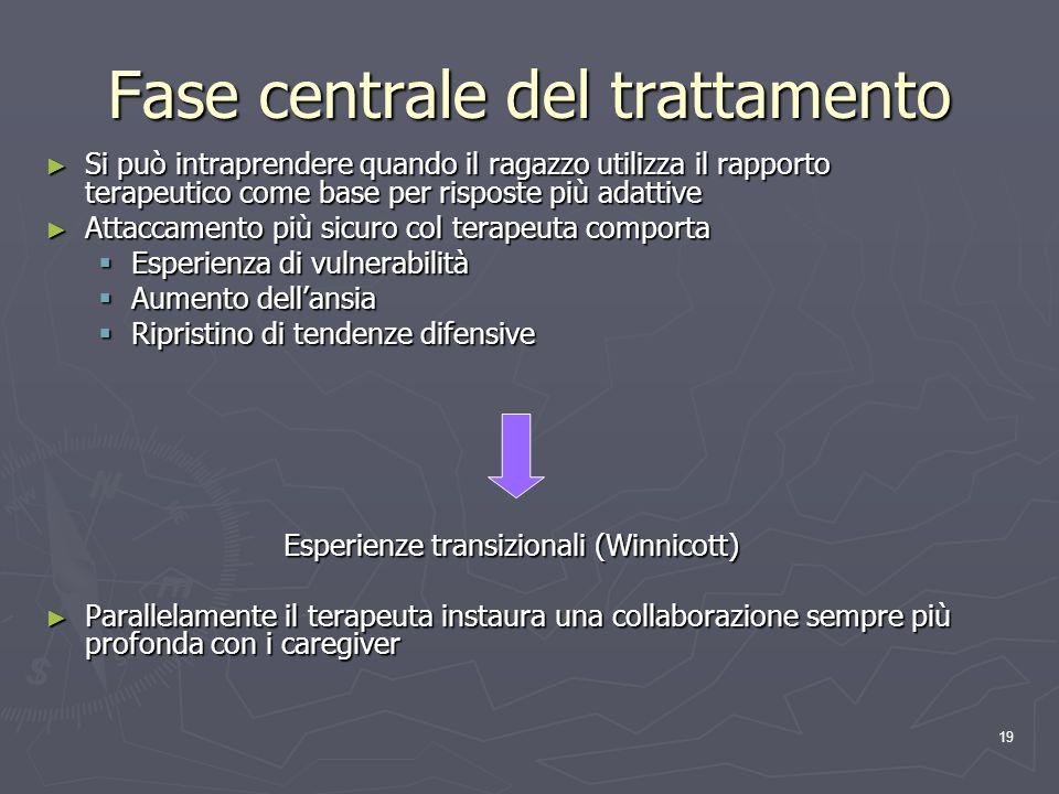 Fase centrale del trattamento