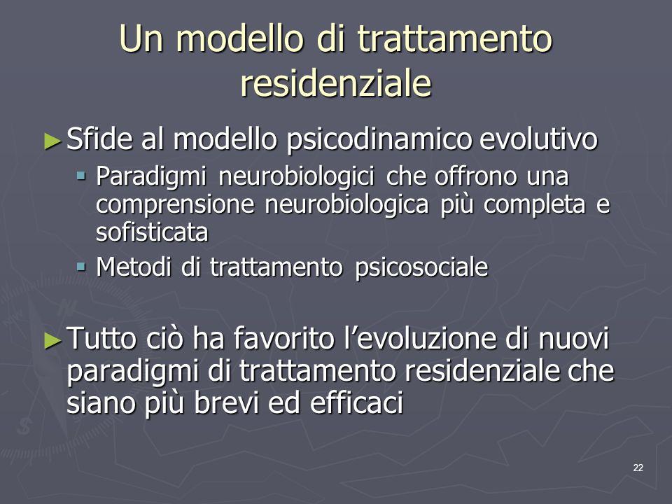 Un modello di trattamento residenziale