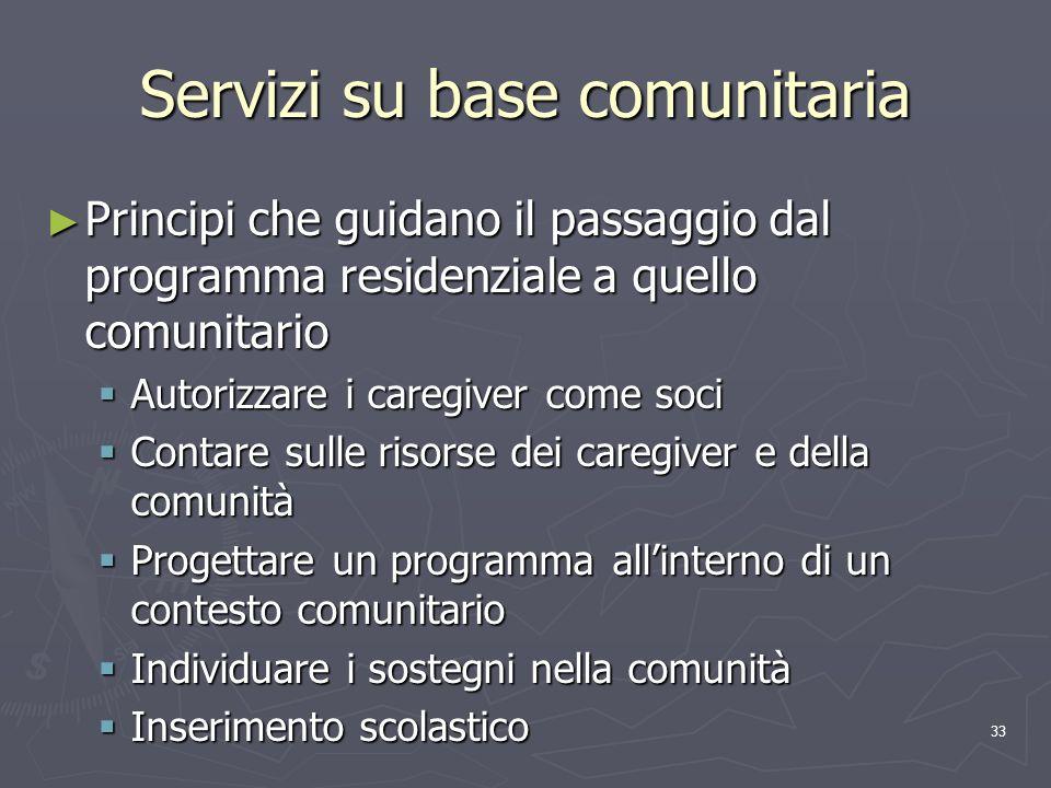 Servizi su base comunitaria