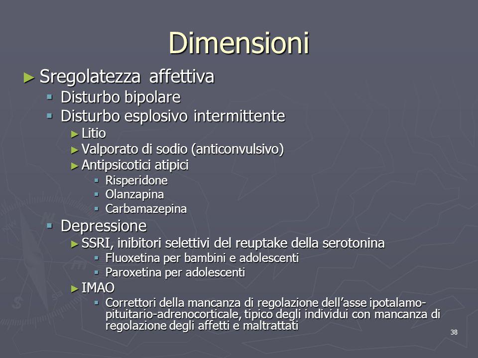 Dimensioni Sregolatezza affettiva Disturbo bipolare