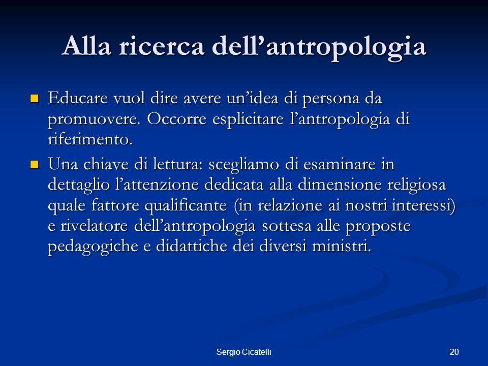 Alla ricerca dell'antropologia