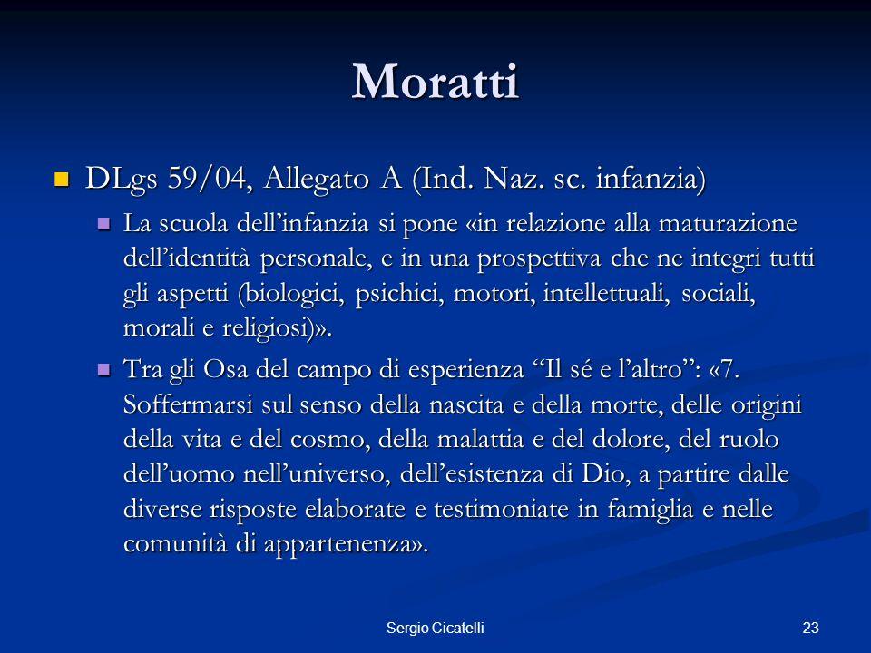 Moratti DLgs 59/04, Allegato A (Ind. Naz. sc. infanzia)